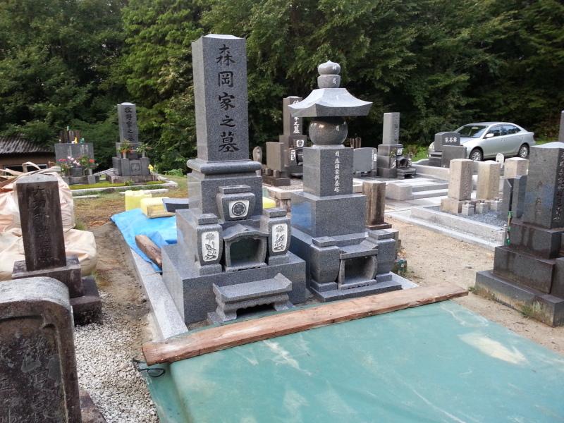 岐阜県恵那市墓石工事