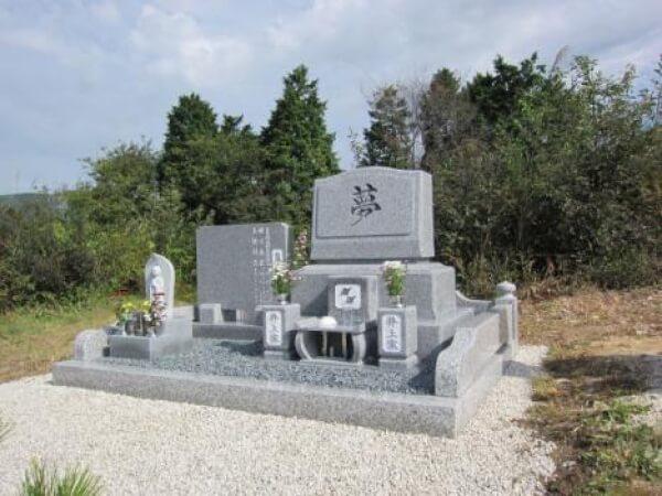 岐阜県恵那市洋型墓石 井上様_メイン画像