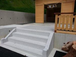 岐阜県加茂郡東白川 神田神社様 階段工事_サンプル画像02